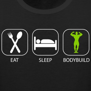 Eat Sleep Bodybuild Workout Design Tank Tops - Men's Premium Tank