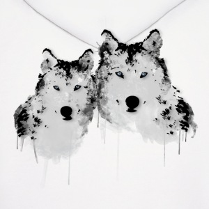 Arctic Painted Wolves Hoodies - Men's Hoodie