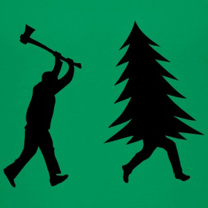 Funny Christmas tree is chased by Lumberjack Baby & Toddler Shirts - Toddler Premium T-Shirt
