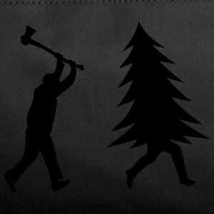 Funny Christmas tree is chased by Lumberjack Bags & backpacks - Duffel Bag