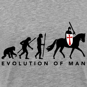 evolution_of_man_knight_112014_a_3c T-Shirts - Men's Premium T-Shirt