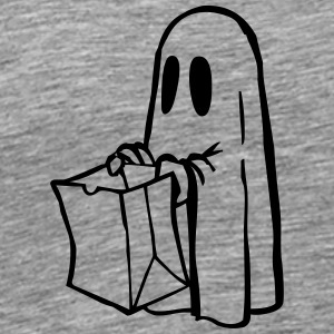 Ghost with bag black and - Men's Premium T-Shirt