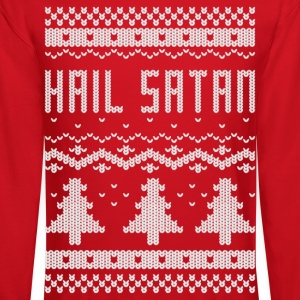 Ugly Christmas Hail Satan Sweater - Crewneck Sweatshirt