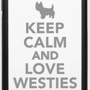 Keep calm and love Westies Accessories - iPhone 6/6s Rubber Case