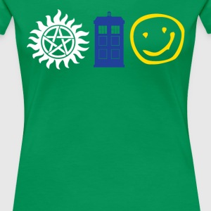 SUPERWHOLOCK SUPERNATURAL DOCTOR WHO SHERLOCK - Women's Premium T-Shirt
