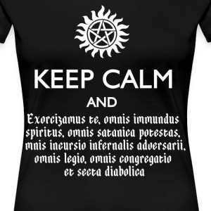 SUPERNATURAL KEEP CALM & SPEAK LATIN - Women's Premium T-Shirt