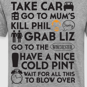 SHAUN OF THE DEAD THE PLAN - Men's Premium T-Shirt