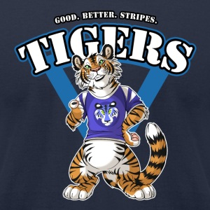 Team TIGERS Blue T-Shirts - Men's T-Shirt by American Apparel