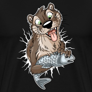 STUCK Otter (white cracks) - Men's Premium T-Shirt