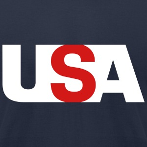 USAmerica T-Shirts - Men's T-Shirt by American Apparel