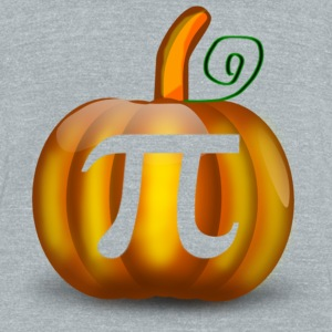 Pumpkin pi - Unisex Tri-Blend T-Shirt by American Apparel