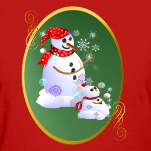 Daddy and Baby Snow Oval - Women's T-Shirt