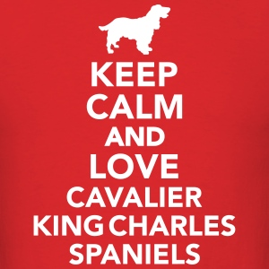 Keep calm and love Cavalier King Charles Spaniels T-Shirts - Men's T-Shirt