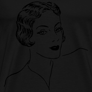Woman Bob Haircut - Men's Premium T-Shirt