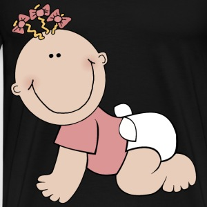 Baby Girl Crawling - Men's Premium T-Shirt