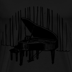 Piano In Front Of Curtain - Men's Premium T-Shirt
