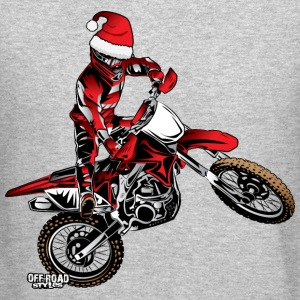 Dirtbiker Christmas Long Sleeve Shirts - Crewneck Sweatshirt