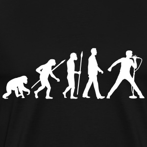 evolution_of_man_singervocalist_112014_b T-Shirts - Men's Premium T-Shirt