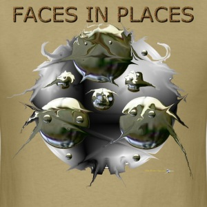 FACES IN PLACES T-Shirts - Men's T-Shirt