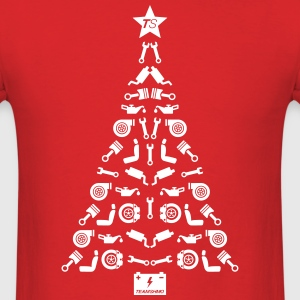 Car Parts Christmas Tree T-Shirts - Men's T-Shirt