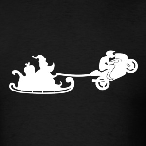 Santa Motorbiker Wheelie - Men's T-Shirt