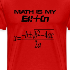 Math is my bitch - Men's Premium T-Shirt