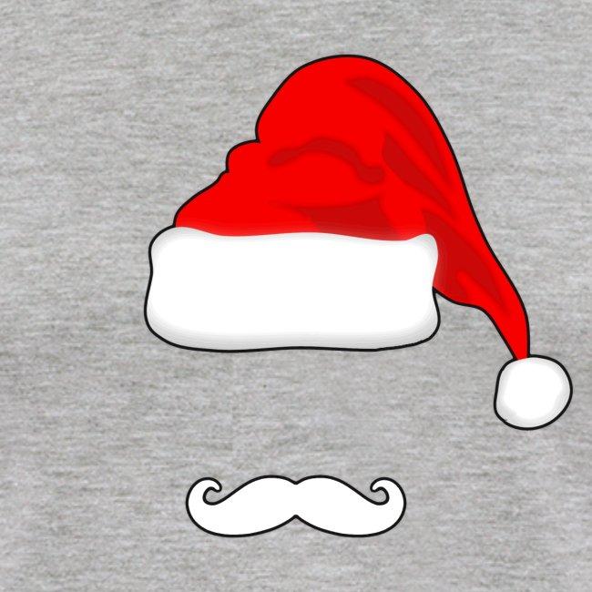 Santa Hat and Mustache Men s Baseball Shirt 2e6bf53e7