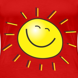 cartoon sun - Women's Premium T-Shirt