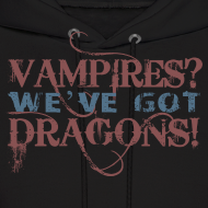Design ~ Vampires? Dragons! Hoodie (Red and Blue Ink - Unisex)