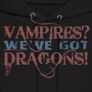 Design ~ Vampires? Dragons! Hoodie (Red and Blue Ink - Unisex)