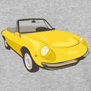 Yellow Alfa Romeo Spider illustration - Baseball T-Shirt