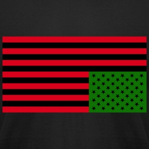 Black American Distress: Men's Slim Fit T-Shirt - Men's T-Shirt by American Apparel