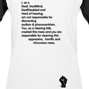 Anti-phonocentrism/audism - Baseball T-Shirt