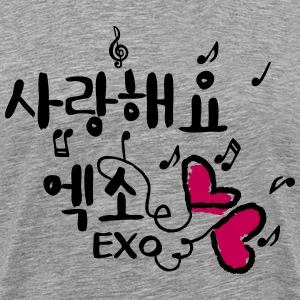 love EXO in Korean typo Men's Premium T-Shirt - Men's Premium T-Shirt