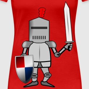 Knight in Armor with Shie - Women's Premium T-Shirt