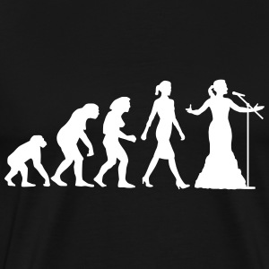 evolution_female_opera_singer_112014_b_1 T-Shirts - Men's Premium T-Shirt