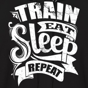 Train Eat Sleep Repeat Gym - Men's Hoodie