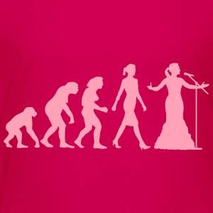 evolution_female_opera_singer_112014_b_1 Kids' Shirts - Kids' Premium T-Shirt
