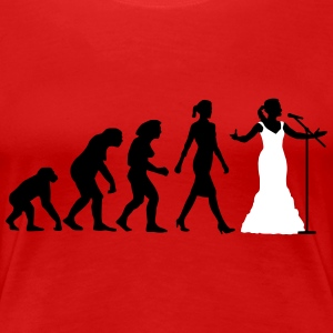 evolution_female_opera_singer_112014_b_2 Women's T-Shirts - Women's Premium T-Shirt