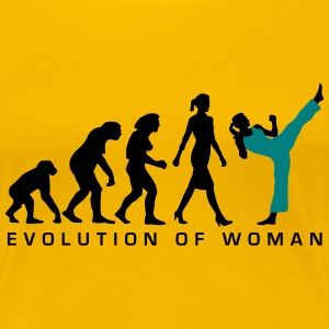 evolution_female_martial_art_112014_b_2c Women's T-Shirts - Women's Premium T-Shirt