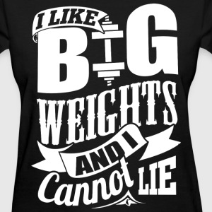 Big Weights Funny Gym - Women's T-Shirt