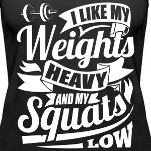 Weights Squats Funny Gym - Women's Premium Tank Top