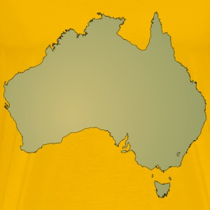 Australian Maps - Men's Premium T-Shirt