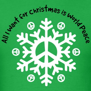 World Peace Snowflake T-Shirts - Men's T-Shirt