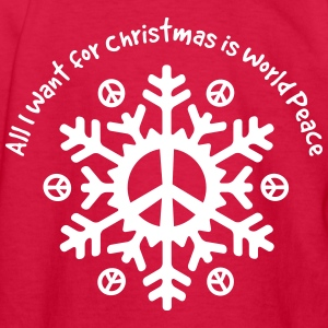 World Peace Snowflake Kids' Shirts - Kids' Long Sleeve T-Shirt