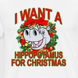 hippopotamus_for_christmas - Men's Premium T-Shirt