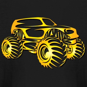 Monster Truck Cutout Kids' Shirts - Kids' Long Sleeve T-Shirt