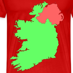 Ireland contour map - Men's Premium T-Shirt