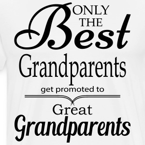 The Best Grandparents Get Promoted to Grandparets T-Shirts - Men's Premium T-Shirt