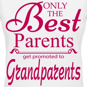 The Best Parents Get Promoted to Grandparents Women's T-Shirts - Women's V-Neck T-Shirt